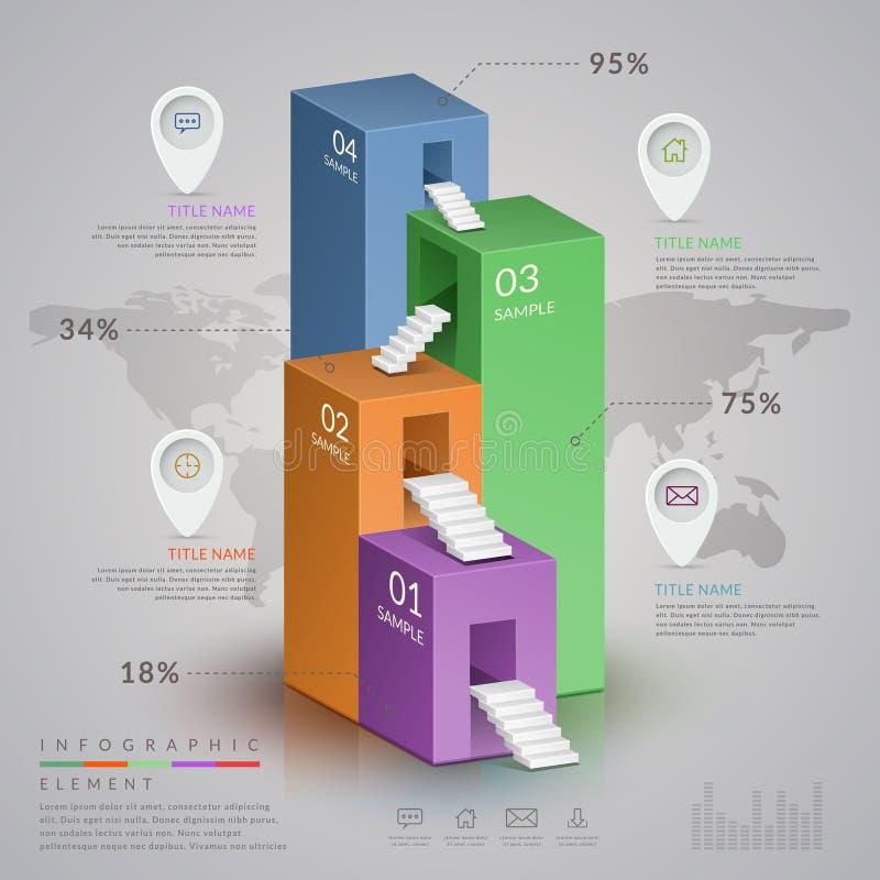 Infographic πρότυπο απλότητας απεικόνιση αποθεμάτων