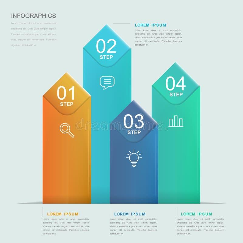 Infographic πρότυπο απλότητας ελεύθερη απεικόνιση δικαιώματος