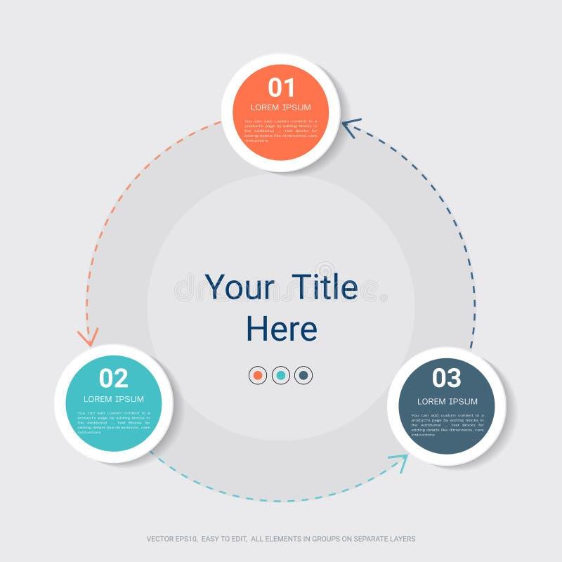 Infographic πρότυπο επιχειρησιακών κύκλων διανυσματική απεικόνιση