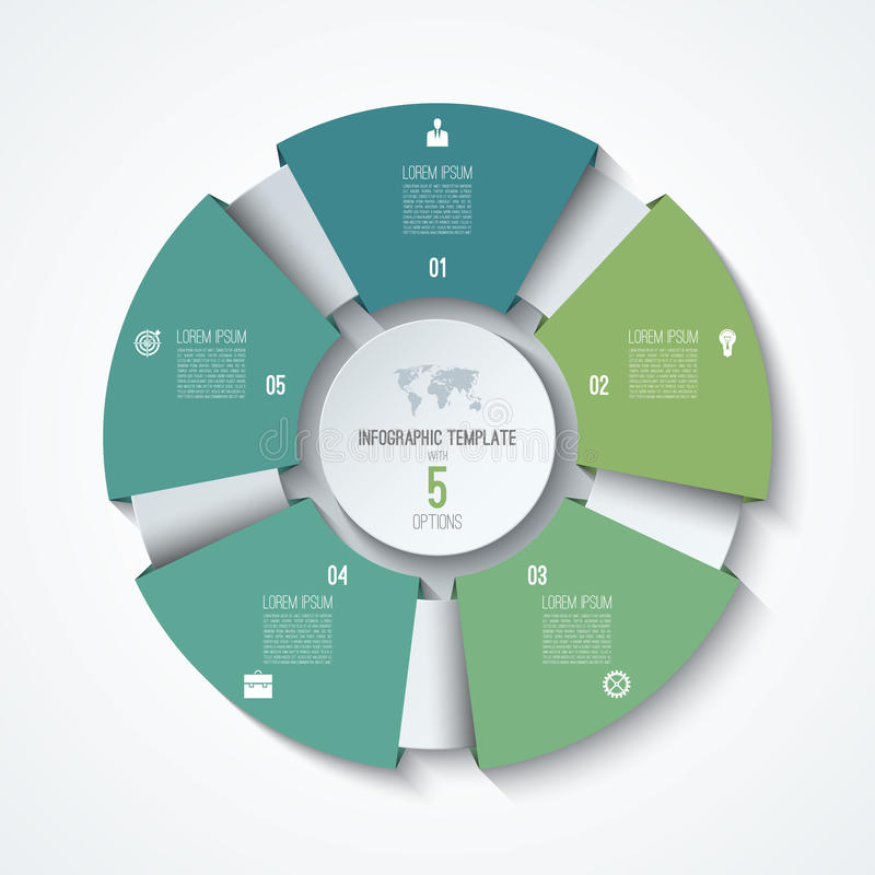 Infographic πρότυπο κύκλων Ρόδα διαδικασίας Διανυσματικό διάγραμμα πιτών απεικόνιση αποθεμάτων