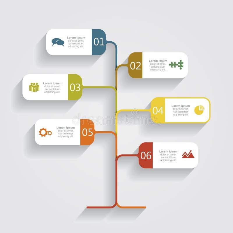 Infographic πρότυπο σχεδίου εμβλημάτων επίσης corel σύρετε το διάνυσμα απεικόνισης απεικόνιση αποθεμάτων