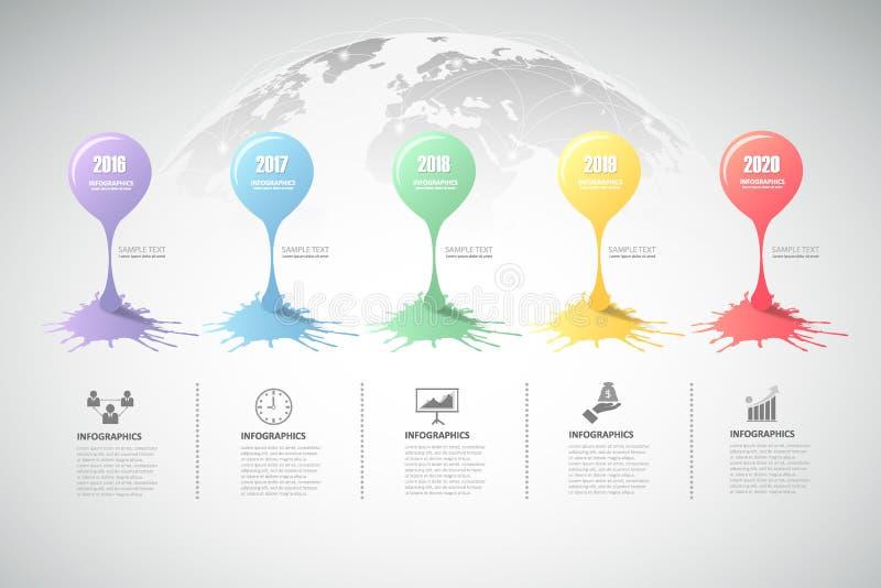 Infographic πρότυπο σχεδίου μπορέστε να χρησιμοποιηθείτε για το σχεδιάγραμμα ροής της δουλειάς, διάγραμμα διανυσματική απεικόνιση