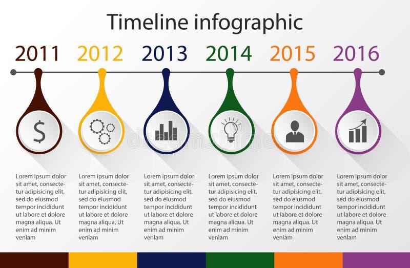 Infographic πρότυπο υπόδειξης ως προς το χρόνο ελεύθερη απεικόνιση δικαιώματος