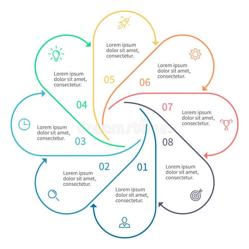 Infographic στοιχείο περιλήψεων με τα βέλη απεικόνιση αποθεμάτων
