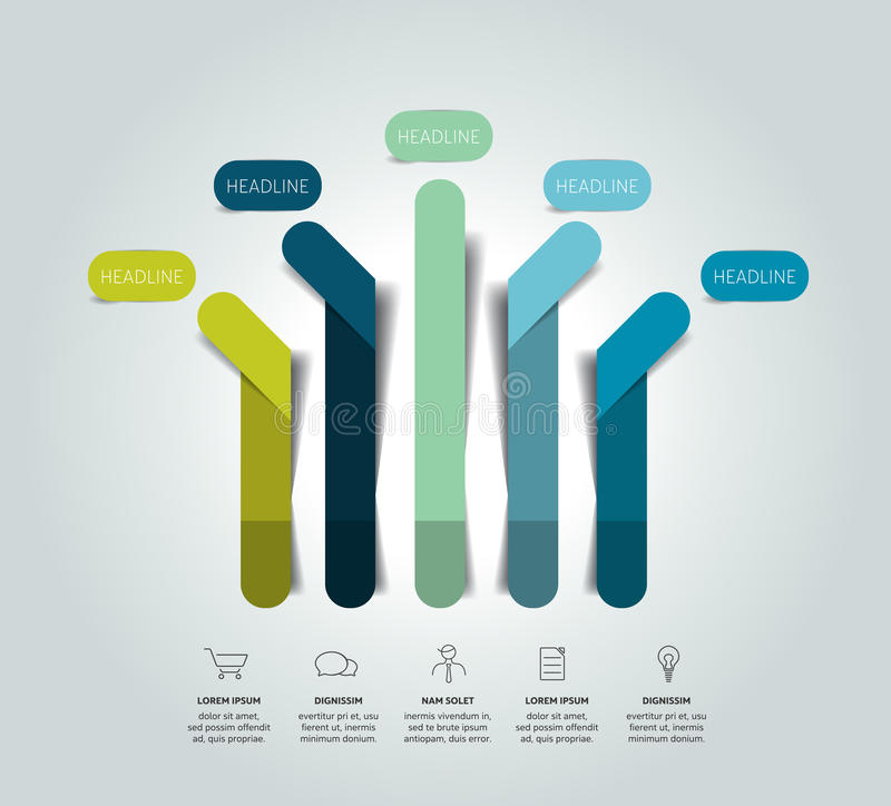 Infographic σχέδιο βελών, διάγραμμα ροής, πρότυπο, διάγραμμα διανυσματική απεικόνιση