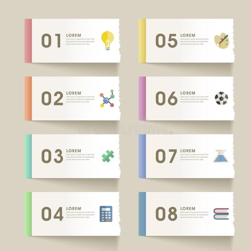 Infographic σχέδιο προτύπων εκπαίδευσης διανυσματική απεικόνιση