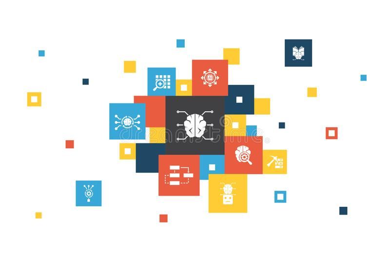 Infographic 10 Τεχνητής νοημοσύνης διανυσματική απεικόνιση