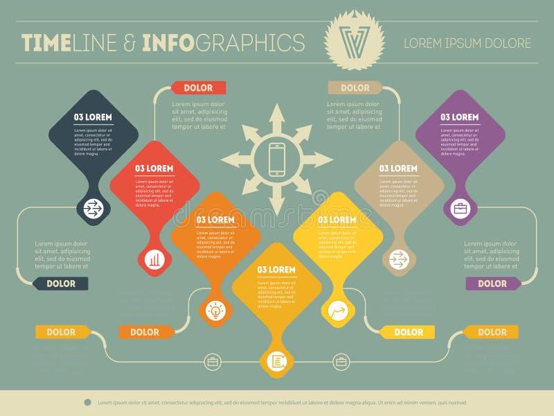 Infographic воронки приобретения Представление вектора дела иллюстрация штока