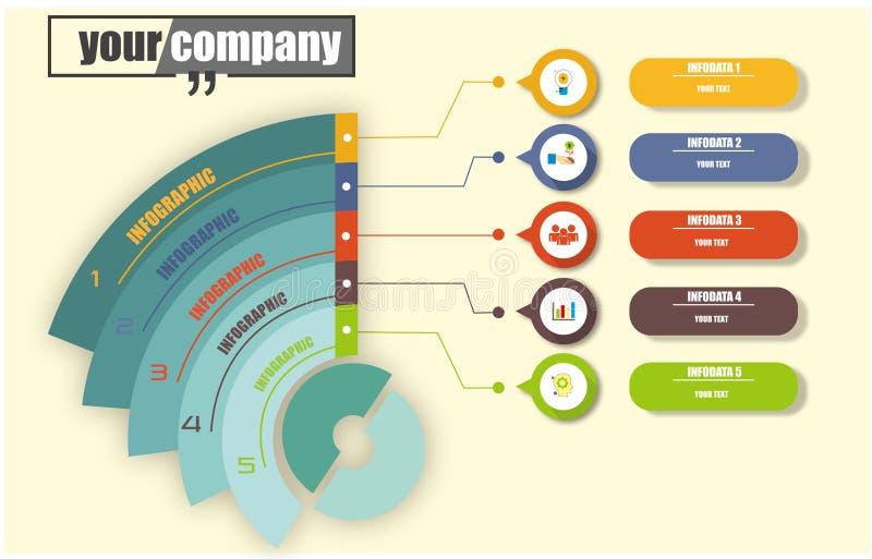 Infographic для потока операций дела иллюстрация штока