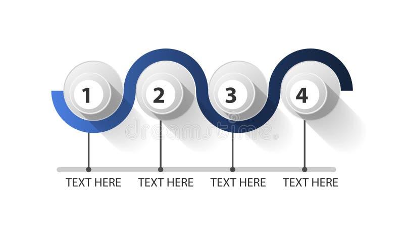 Infographic закрыло круг в 4 шагах иллюстрация штока