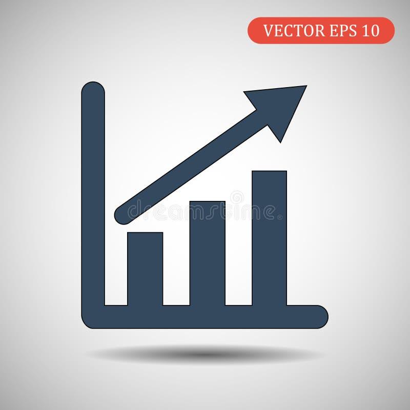 Infographic, значок диаграммы также вектор иллюстрации притяжки corel стоковая фотография