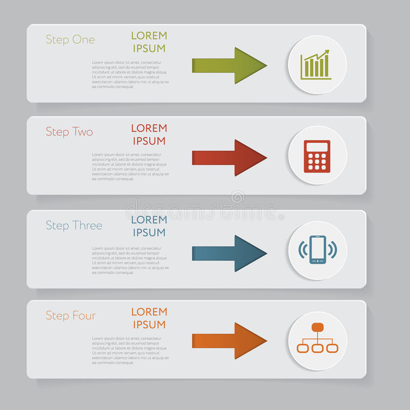 Infographic Конструируйте график шаблона знамен номера или план вебсайта иллюстрация штока