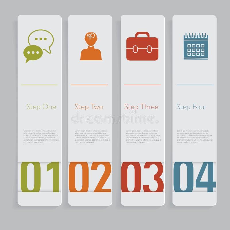 Infographic Конструируйте график шаблона знамен номера или план вебсайта бесплатная иллюстрация