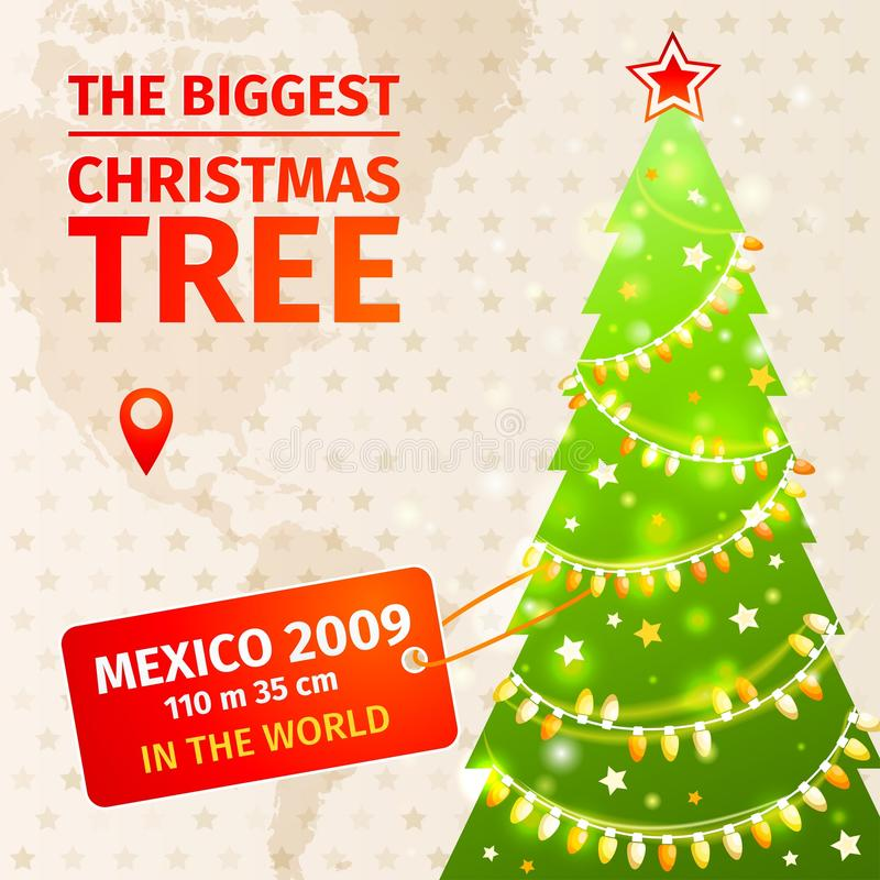 Infographic Самая большая рождественская елка иллюстрация штока