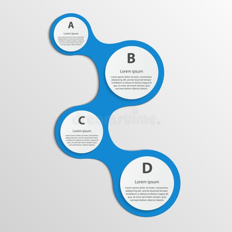 infographic самомоднейшее элементы конструкции предпосылки 4 снежинки белой иллюстрация штока