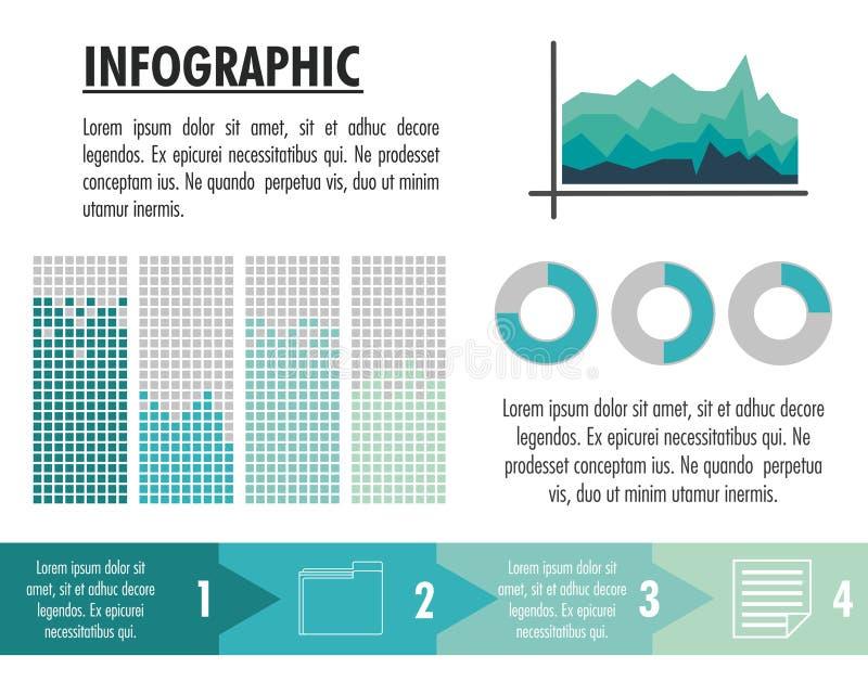 Infographic с дизайном статистик иллюстрация вектора