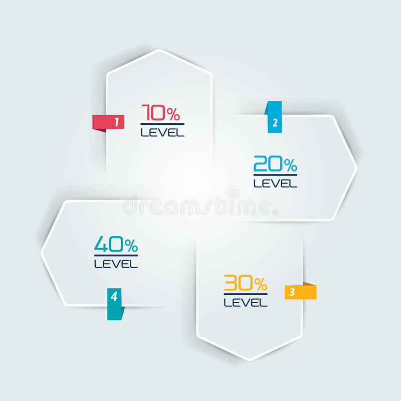 Infographic 4 шага шаблон, график течения Диаграмма, диаграмма, диаграмма, схема технологического процесса, шаблон знамени бесплатная иллюстрация