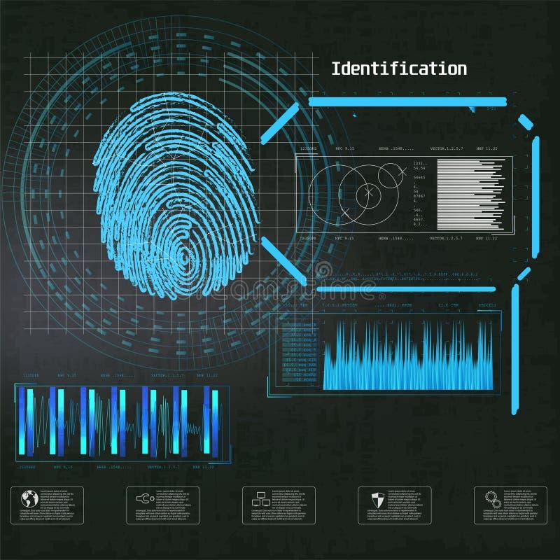 网络锁安全传染媒介例证 r 未来派infographic 网络安全,安全,p 皇族释放例证