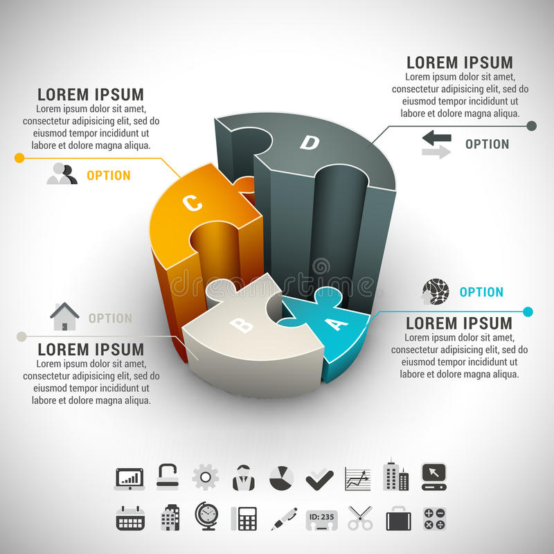 Infographic illustrazione di stock