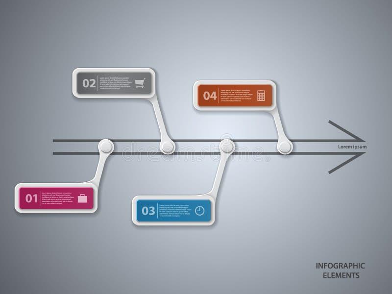 Download Infographic ilustracja wektor. Ilustracja złożonej z sztandar - 65225925