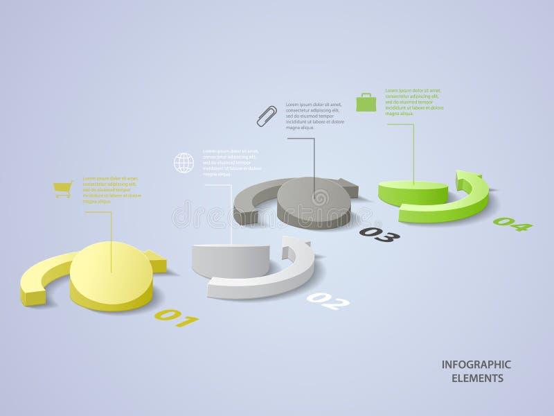 Infographic illustration stock