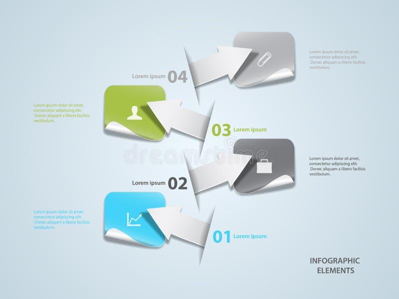 Infographic illustration libre de droits