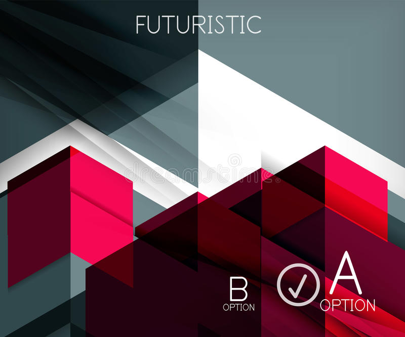 Infographic abstract background. Made of geometric shapes stock illustration