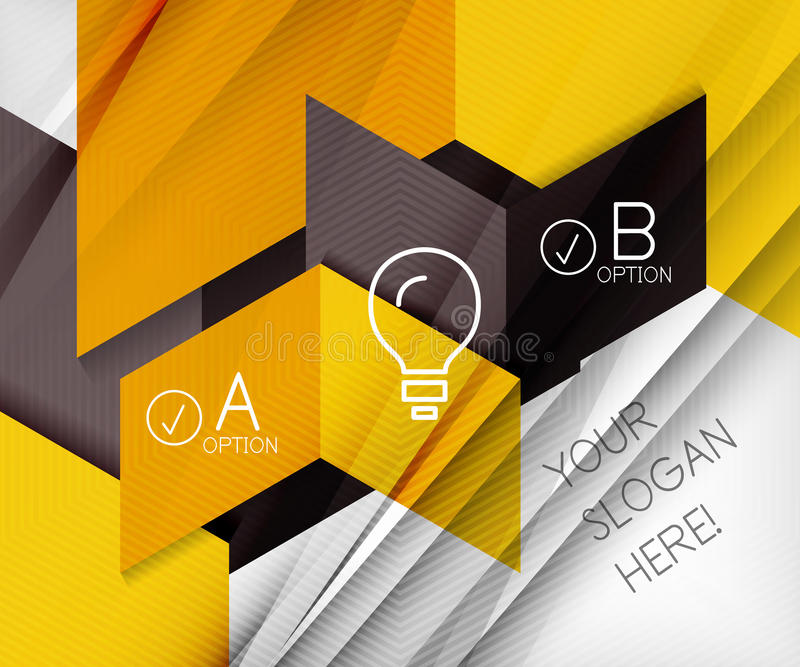 Infographic abstract background stock illustration