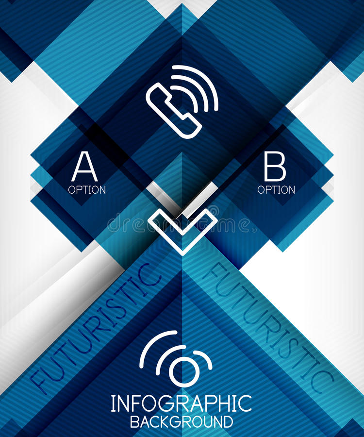 Infographic abstract background royalty free illustration