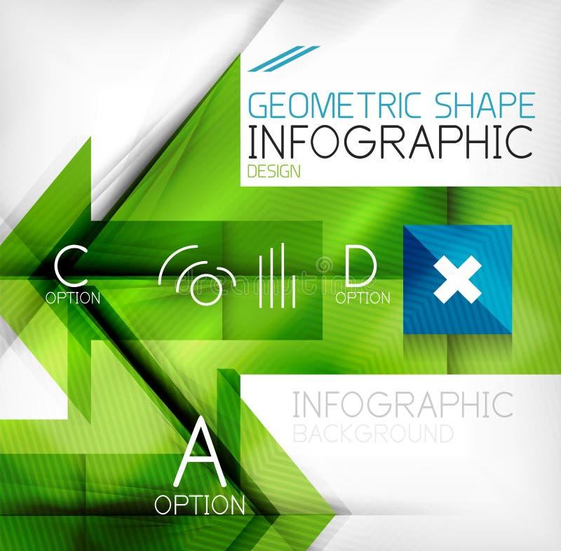 Infographic abstracte achtergrond stock illustratie