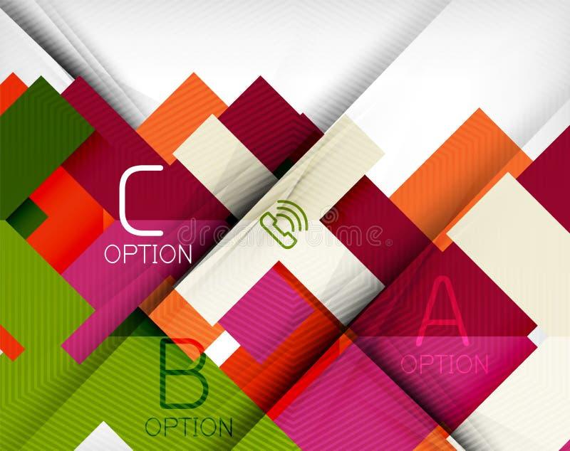 Infographic abstrakt begreppbakgrund stock illustrationer
