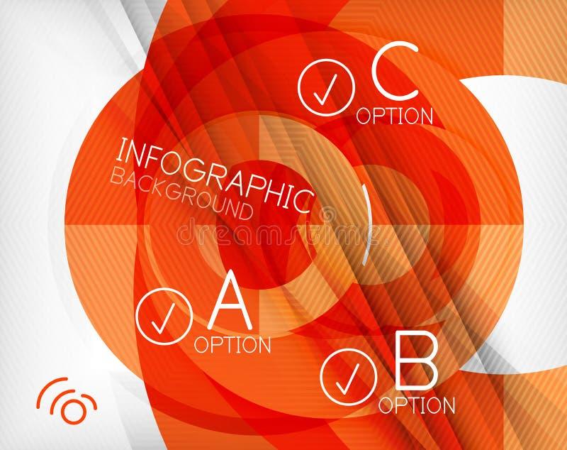 Infographic abstrakta tło ilustracji