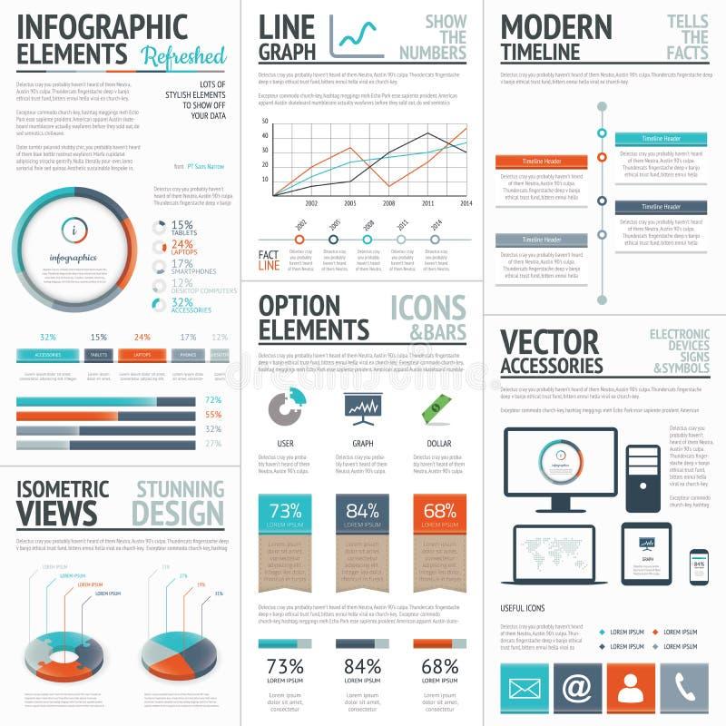 Infographic affär och företags analysvektorbeståndsdelar vektor illustrationer