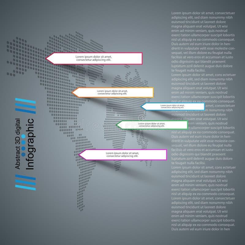 Infographic affärspapper Översikter och värld stock illustrationer