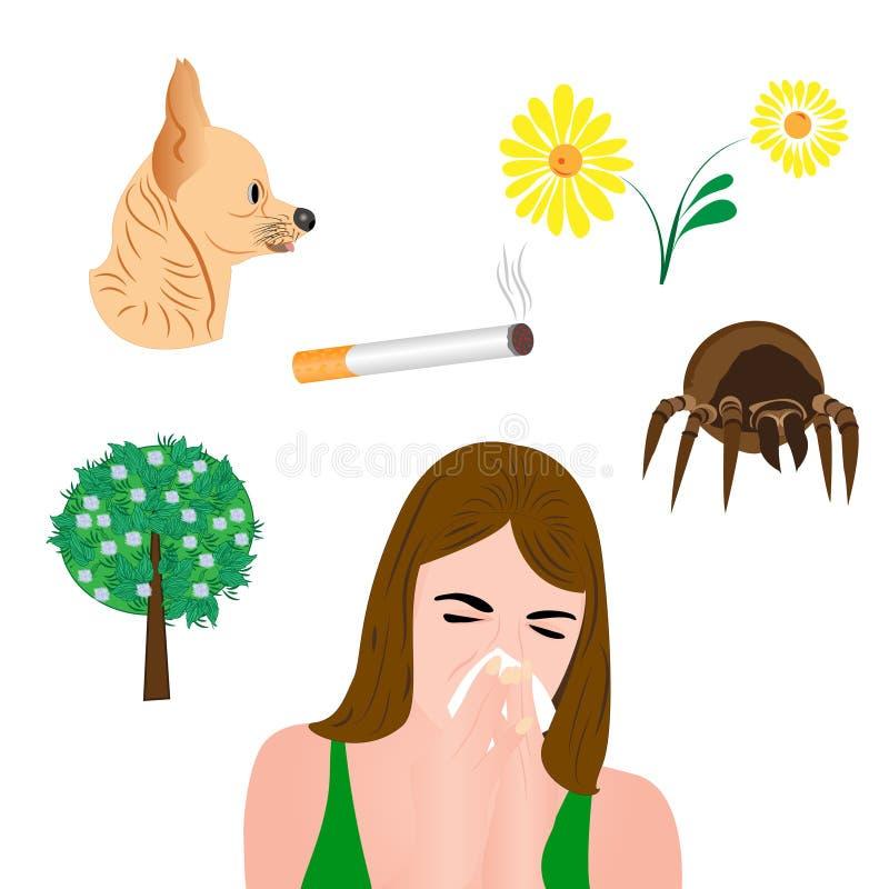 Infographic allergen vektor illustrationer