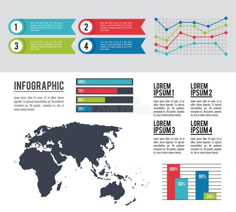 Infographic antyczny kontynent royalty ilustracja