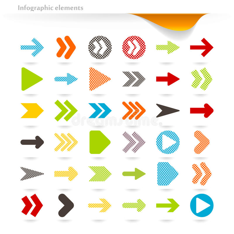 Download Infographic arrows stock vector. Image of design, next - 32511993