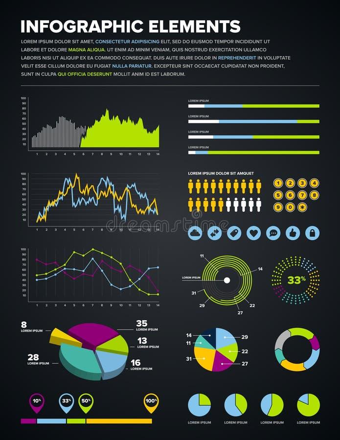 Infographic Auslegungelemente lizenzfreie abbildung