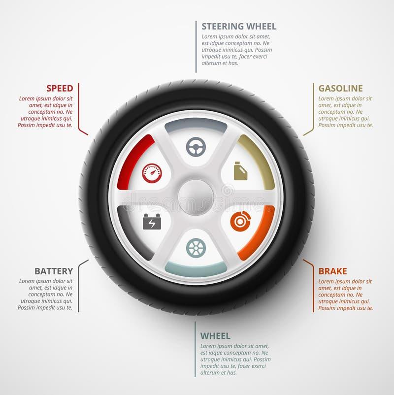 Infographic auto stock illustratie