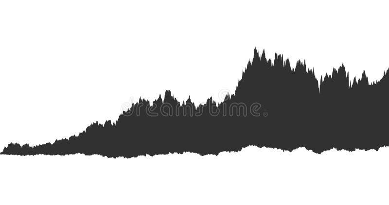 infographic av den solida waveformen för spektrumsvartoväsen, diagram, grafbegrepp Vektorillustration som isoleras på vit bakgrun vektor illustrationer