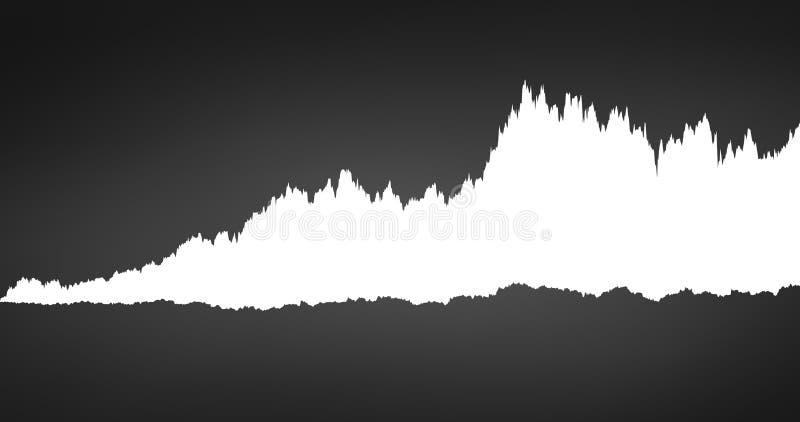 infographic av waveformen för vitt oväsen för spektrum den solida, diagram, grafbegrepp Vektorillustration som isoleras på vit ba stock illustrationer