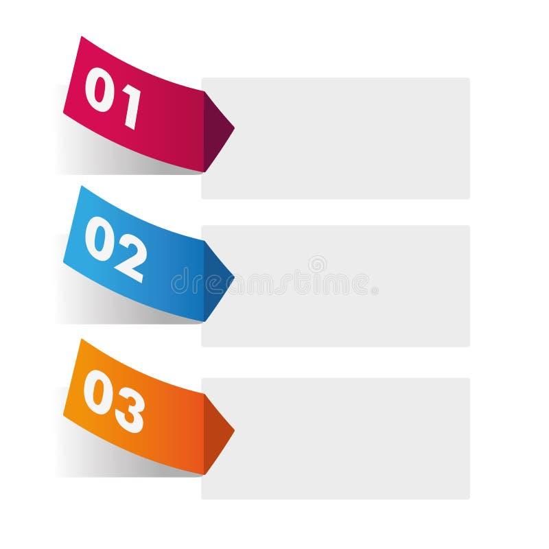 Infographic avec trois options illustration de vecteur