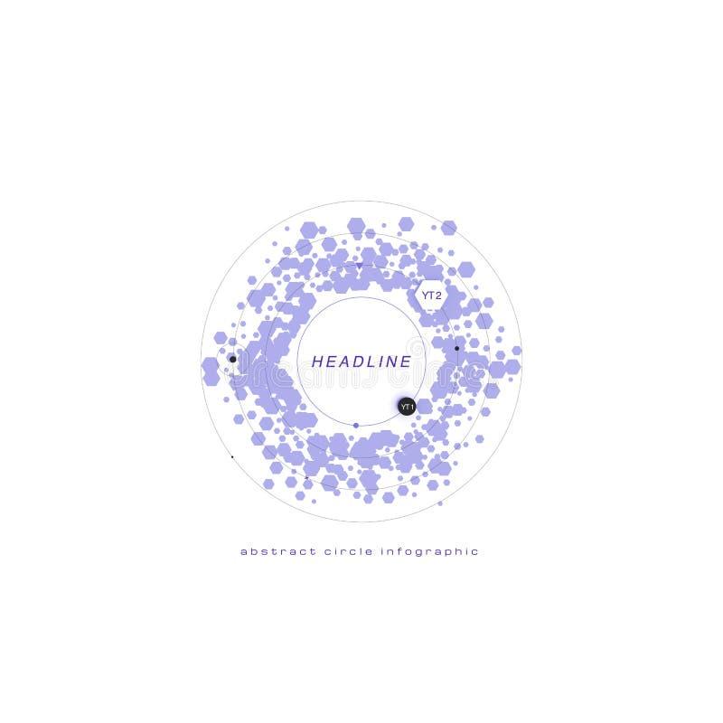 Infographic azul del color aislada en el fondo blanco Te abstracto libre illustration