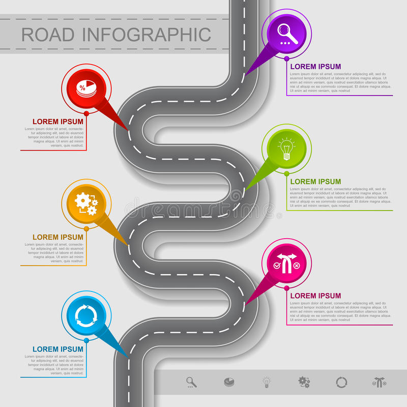 Infographic bästa väg stock illustrationer