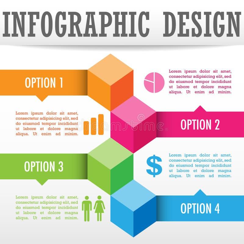 Infographic bakgrund vektor illustrationer