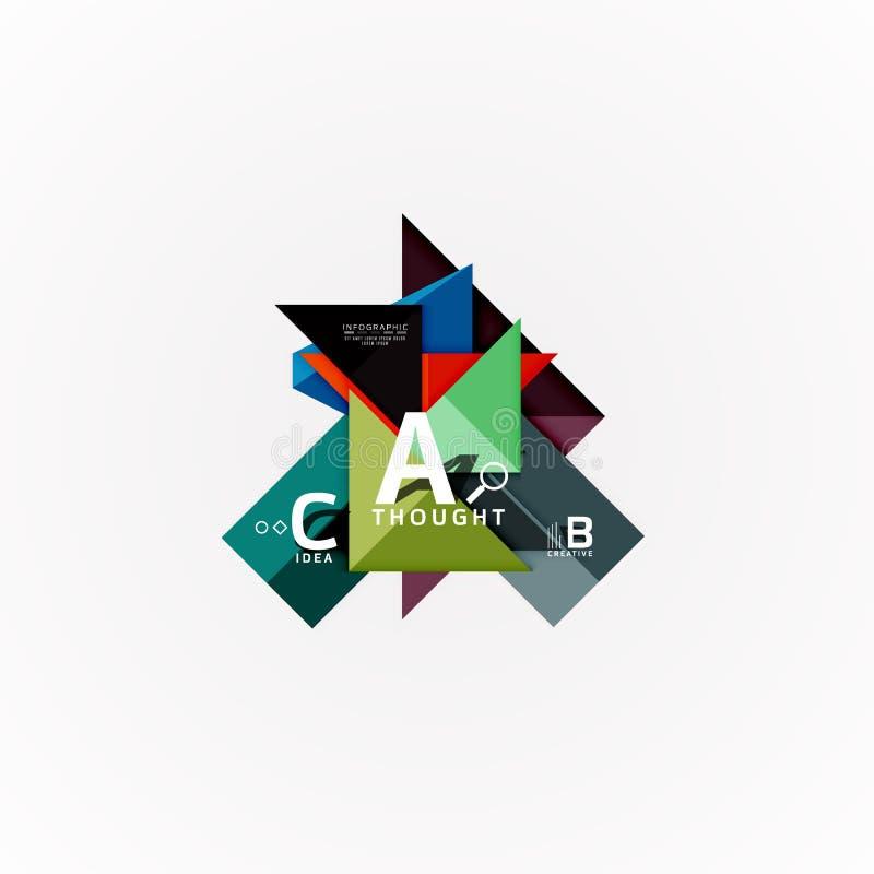 Infographic baner för abstrakt geometriskt alternativ, en momentprocess för b c royaltyfri illustrationer