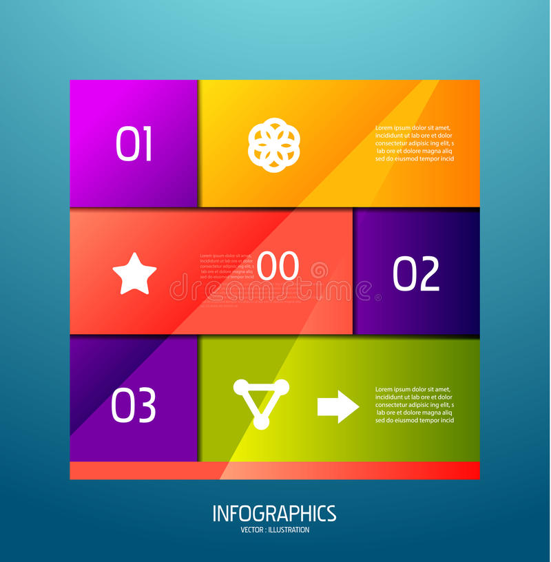 Infographic banner design elements, numbered lists royalty free illustration