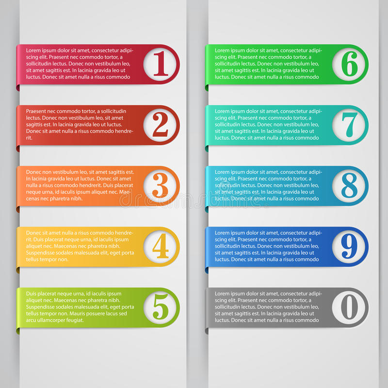 Infographic banner royalty free illustration