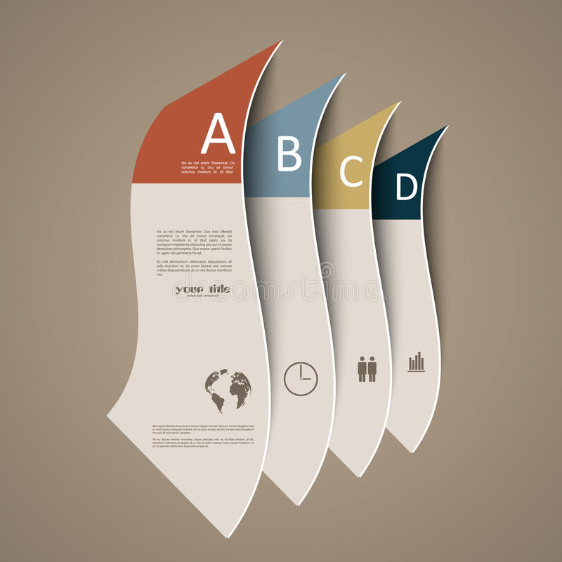 Infographic banners stock illustration
