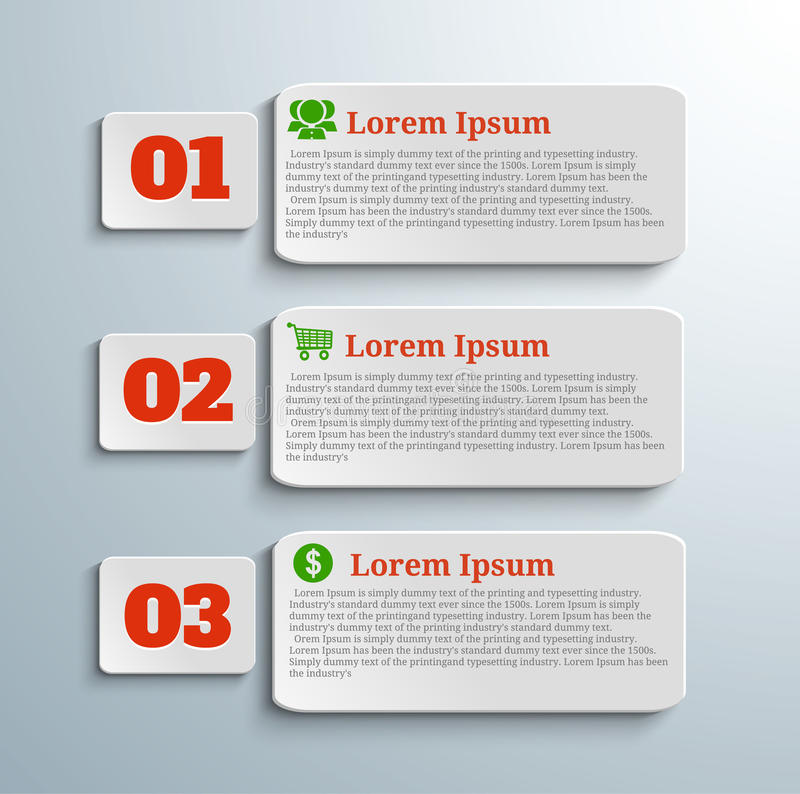 Infographic banners with icons and number royalty free illustration